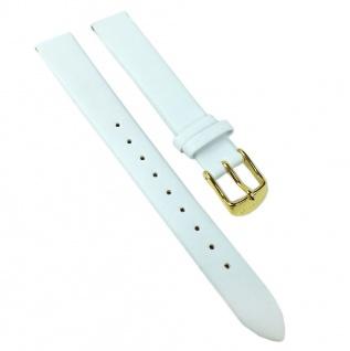 Timex Uhrenarmband Leder Band weiß 14mm für T2N445