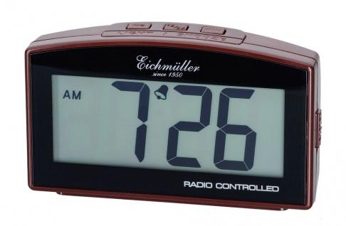 Wecker Reisewecker Alarm Digital Kunststoff braun mit Schlummer Funktion