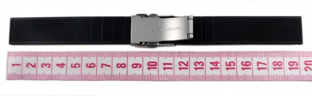 Minott Uhrenarmband Silikon Band 22mm schwarz 19911S - Vorschau 3
