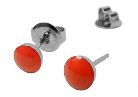 Minott Erstohrstecker Ohrschmuck Ohrringe Ø 5mm Edelstahl NEON - Orange - 100 % Steril 30705