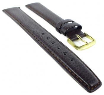 EULIT Oregon Ersatzband XL 18mm Uhrenarmband Rindsleder leicht genarbt gepolstert braun