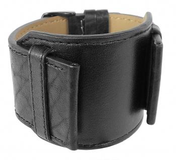 Bruno Banani Kosmos Ersatzband 34mm Leder schwarz genarbt XK3 901 301 BR20806