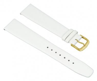 Graf Manufaktur Jazz Uhrenarmband Kalbsleder Band Weiss 26218G