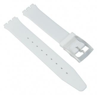 Minott Uhrenarmband Silikon Band Weiß passend zu Swatch Uhren Skin 16 mm 27174