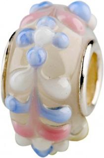 Charlot Borgen Marken Damen Bead Beads Drops Kristallglas Silberkern GPS-57Rosa-Blau