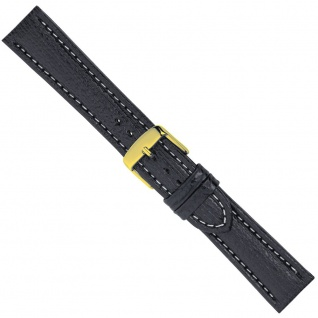 Minott Uhrenarmband Ersatzband Leder Band Schwarz 26559G