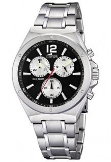 LOTUS Sport Herren Armbanduhr Chronograph Edelstahl Massiv 10118/5