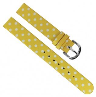 Adora Youngline Kinder Ersatzband 12mm Kunststoff gelb / weiß Band AY4375