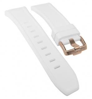 Jacques Lemans Miami Uhrenarmband Silikon Band weiß 1-1784 1-1784H