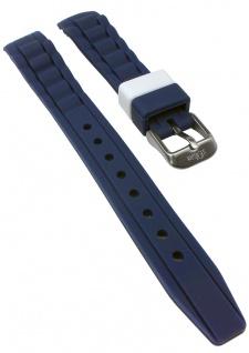 s.Oliver Uhrenarmband Silikon Band sehr weich 14mm blau SO-2589-PQ