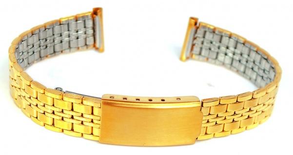 Minott Ersatzband 14mm Edelstahl Band gelbgoldfarben matt /glänzend