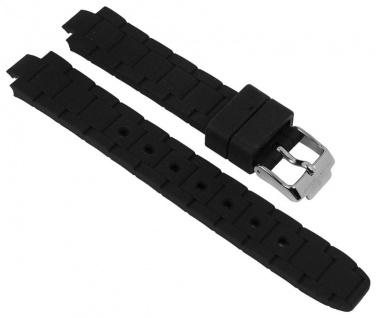 Jacques Lemans Uhrenarmband Silikon Band schwarz für Modell Milano 1-1709