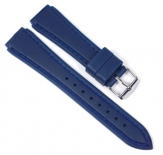 Minott Uhrenarmband Silikon Band Blau 23189S