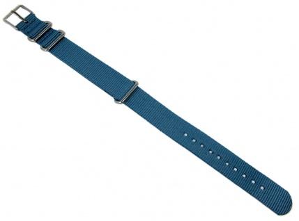 Timex Uhrenarmband Durchzugsband Textil Band 18mm blau für TW2P88700