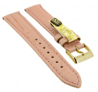 Uhrenarmband | aus echtem Louisiana Krokoleder | rosa | 35366
