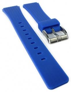 Calypso Ersatzband aus Silikon in blau mit Schließe silberfarben Spezial Anstoß K5743/5