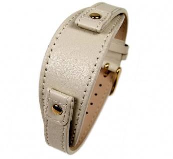 Uhrenarmband Leder Band Unterlageband 12mm beige passend zu s.Oliver SO-2283-LQ