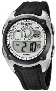 Calypso | Herrenarmbanduhr Quarzuhr Digitaluhr Kunststoffuhr mit Kunststoffband schwarz K5722/1