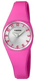 Calypso   Damenarmbanduhr Quarzuhr Kunststoffuhr mit Kunststoffband pink analog K5726/5
