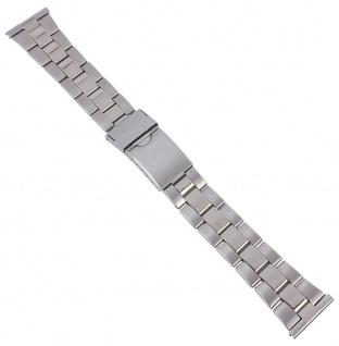 Minott Edelstahl Band Uhrenarmband Herren silberfarben 29766S