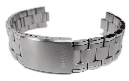 Casio Uhrenarmband 19mm Edelstahl Band für MTP-1215A MTP-1259D