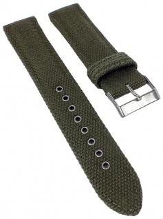 Casio Ersatzband | Uhrenarmband grün WVA-M630B Textil/Leder Mix