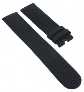 Junghans Vista Automatic Ersatzband Leder genarbt schwarz 23mm 027/4408