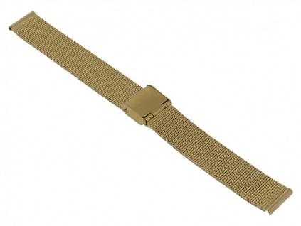 Uhrenarmband Damen Edelstahl Band Milanaise gelbgoldfarben hochglänzend passend zu Timex T2P462 T2P464