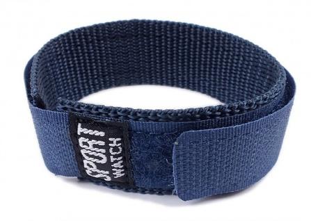 Minott Uhrenarmband Sport-Watch Durchzugsband Band Blau 18 - 20mm 21524