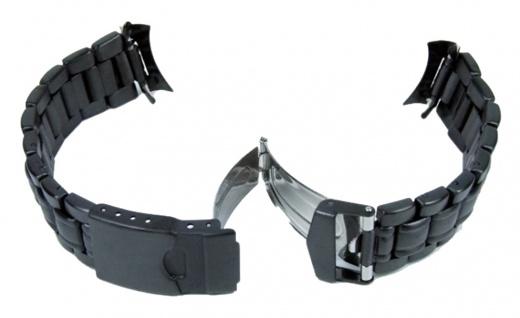 Ersatzband Uhrarmband 6 x Wechselanstoß IP schwarz 18mm, 20mm, 22mm 23942 - Vorschau 1