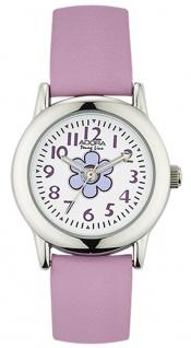 Adora Young Line analoge Quarz Armbanduhr aus Edelstahl mit lila Kunststoffband
