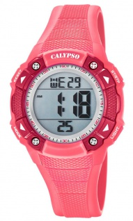 Calypso Damenarmbanduhr Quarzuhr Digitaluhr Kunststoffuhr mit Alarm Stoppfunktion rosa K5728/2