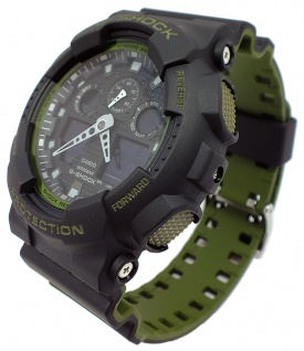 Casio G-Shock digitale Herrenuhr bicolor Resinband GA-100L-1AER GA-100