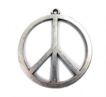 Minott Anhänger Peace Zeichen im Antik Design versilbert Ø ca. 55mm 14746
