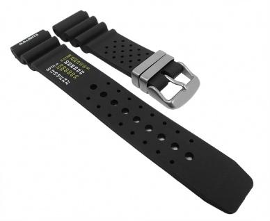 Minott Uhrenarmband Taucherband Ersatzband Kautschuk Band 26984S