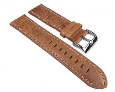Vintage Look Uhrenarmband Leder Band Braun 25271S