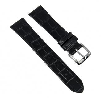 Uhrenarmband Leder Damenband schwarz passend zu Hugo Boss 18mm Anstoß