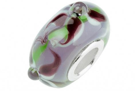 Charlot Borgen Marken Damen Bead Beads Drops Kristallglas Silberkern GPS-48Violett
