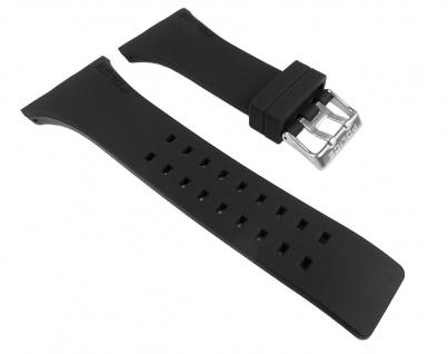 Police Vantage Uhrenarmband Kautschuk Band schwarz für P13077MPBS-02