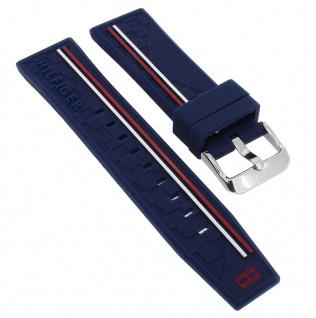 Tommy Hilfiger Multifunktion Ersatzband 22mm Uhrenarmband Silikon Band blau 1791476