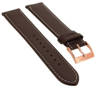Junghans Driver Meister Automatic Ersatzband 20mm braun Uhrenarmband Leder mit Naht 027/7710