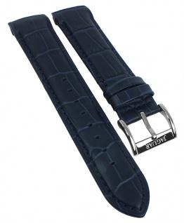 Jaguar Swiss Made Ersatzband Leder blau Kroko-Optik Naht J682 J682/4