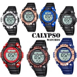 Calypso Herrenarmbanduhr Quarzuhr Kunststoffuhr mit Polyurethanband Alarm-Chronograph digital alle Modelle K5683