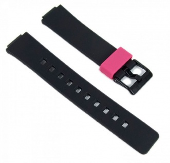 Casio Uhrenarmband Resin Band schwarz/Pink LDF-52-1AEF LDF-52