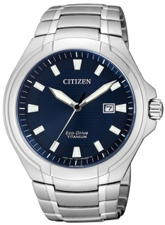 Citizen Eco-Drive Herren-, Analoguhr | Super Titanium silberfarben |10 bar > BM7430-89L