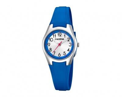 Calypso Kinderarmbanduhr blau Quarzuhr Analoguhr Kunststoff Band K5750/5