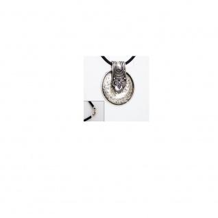 Minott Damen Halskette, Kautschukband 50cm mit Metallanhänger, Karabinerverschluß Silber MT-024541