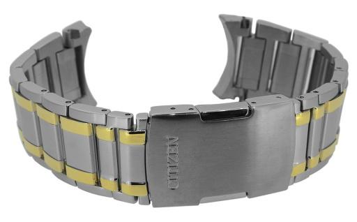 Citizen Chrono Ersatzband massiv Edelstahl bicolor Faltschließe AT4004-52E