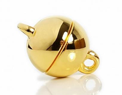 Minott Magnetschließe - Verschluss für Ketten und Schmuck 925/- Silber / vergoldet 22972