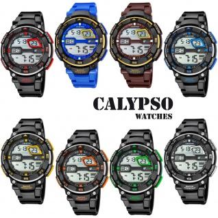 Calypso Herrenarmbanduhr Quarzuhr Kunststoffuhr mit Polyurethanband Alarm-Chronograph digital alle Modelle K5672